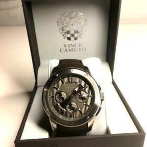 Vince Camuto Chronograph Stainless Stl Watch NWOT